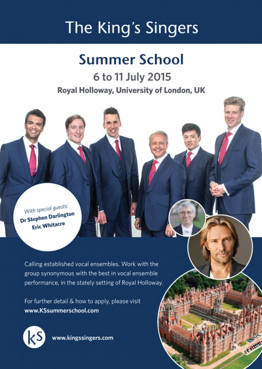 The King's Singers Summer School July 2015